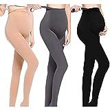 LOVELYBOBO 3 Pack Damen Umstandskleidung Leggings Strumpfhosen Blickdichte...