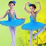 HUOFEINIAO-Tanzkleidung Kinder Ballett Sling Ballett Schwanensee Puff Kinder Pailletten Ballett Tutu...