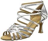 Diamant Damen Latein Tanzschuhe 108-087-013, Damen Tanzschuhe - Standard & Latein, Silber (Silber),...