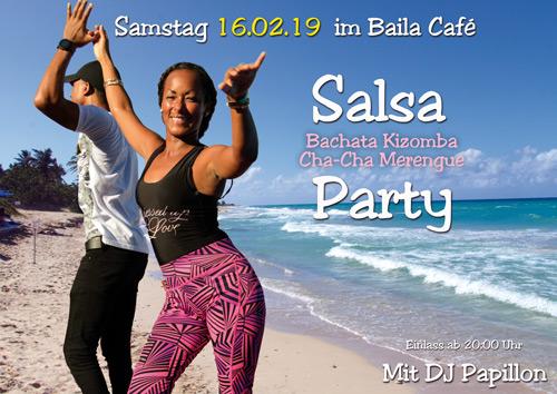 Sa. 16.02.19 – Salsaparty im Baila Café