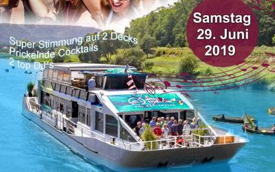 Sommer Partyboot Samstag 29.06.19