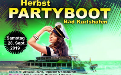 Herbst Partyboot Samstag 28.09.19