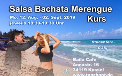 Salsa Bachata Merengue Tanzkurs 12.08.19