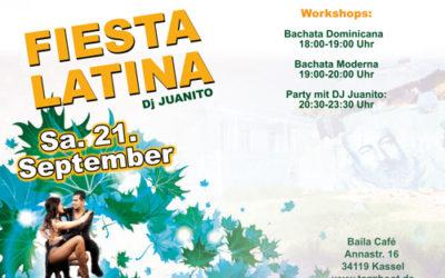 Fiesta Latina + Workshops – Sa. 21.09.19